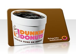 Free Dunkin` Donuts Gift Cards